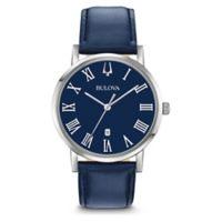 7ae44df00a7f Bulova Men's 40mm Blue Classic Slim-Profile Watch