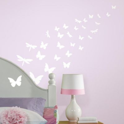 Roomates Butterfly Glow In The Dark Peel U0026 Stick Wall Decals