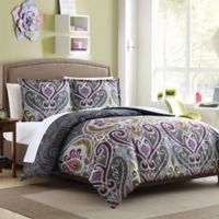 Nomad Reversible Twin/Twin XL Duvet Cover Set in Grey