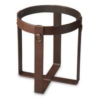 Butler Rodolfo Leather Lamp Table in Medium Brown