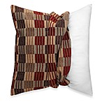 Make-Your-Own-Pillow Stripes and Ladders Square Throw Pillow Cover in Red/Brown