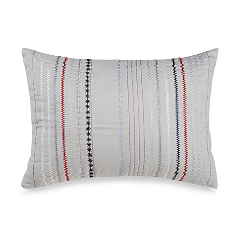 Aden Oblong Embroidered Throw Pillow