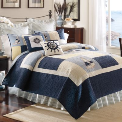 sailing king bed skirt - Nautical Bedding