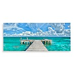 Dock of the Bay Canvas Print 58-Inch x 18-Inch Wall Art