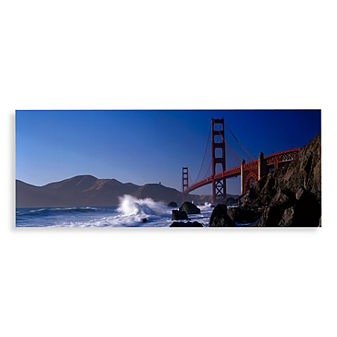 golden gate bridge canvas print 58 inch x 18 inch wall art. Black Bedroom Furniture Sets. Home Design Ideas