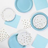 Foil Dots 52-Piece Party Supply Kit in Blue/Gold/White