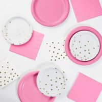 Foil Dots 52-Piece Party Supply Kit in Candy Pink/Gold/White