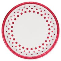 Creative Converting 24-Pack Sparkle and Shine Banquet Plates in Ruby