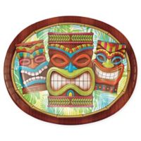 Creative Converting 24-Pack Tiki Time Oval Plates