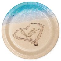 """Creative Converting 24-Pack """"Love"""" Beach-Themed Banquet Paper Plates"""