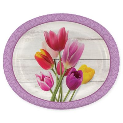 Creative Converting 24-Pack Beautiful Blossoms Oval Platter Paper Plates  sc 1 st  Bed Bath u0026 Beyond & Buy Decorative Paper Plates from Bed Bath u0026 Beyond