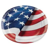 Creative Converting 24-Pack Freedom Flags Oval Paper Plates