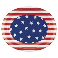 Creative Converting 24-Pack BBQ Patriotic Oval Paper Plates