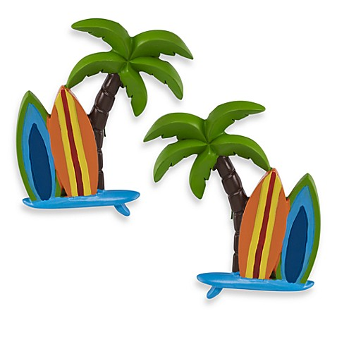 Surf Board Cluster Finials (Set of 2)