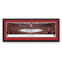 NHL Chicago Blackhawks Panoramic Hockey Arena Print with Deluxe Frame