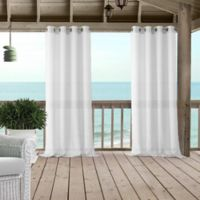 Bali Sheer 84-Inch Grommet Indoor/Outdoor Window Curtain Panel in White