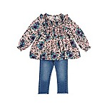 Jessica Simpson Size 18M 2-Piece Floral Top and Jean Set