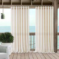 Carmen 84-Inch Grommet Sheer Indoor/Outdoor Window Curtain Panel in Ivory