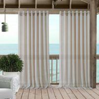 Carmen 108-Inch Grommet Sheer Indoor/Outdoor Window Curtain Panel in Natural