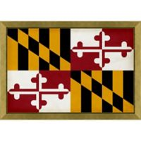 Maryland Textured State Flag 34-Inch x 24-Inch Framed Wall Art