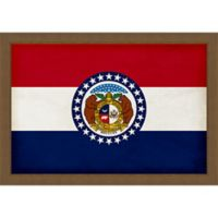 Missouri Textured State Flag 34-Inch x 24-Inch Framed Wall Art
