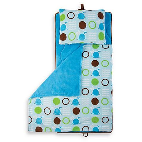 Aquatopia Whale Blue Memory Foam Nap Mat With Pillow