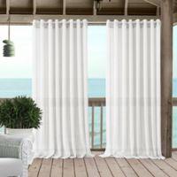 Carmen 95-Inch Grommet Sheer Indoor/Outdoor Window Curtain Panel in White