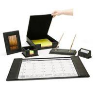 Mind Reader 6-Piece Desk Accessory Set in Black