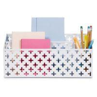 Design Ideas Euler Desk Organizer in White