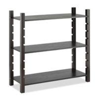 Whitmor 3-Tier Wood Shelf in Walnut