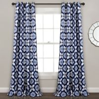Lush Décor Venus Medallion 84-Inch Grommet Room Darkening Window Curtain Panel Pair