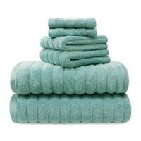 Juliette Lablanc 6-Piece Cotton Bath Towel Set in Turquoise