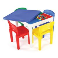 Tot Tutors 2-In-1 LEGO®-Compatible Square Activity Table and Chair Set