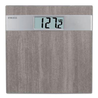 Homedics Gray Stone Digital Bath Scale