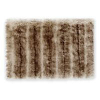 "Nordic 24"" x 36"" Faux Fur Bath Rug in Black/Brown"