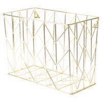 Gold Wire Hanging File Basket