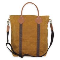 CB Station Waxed Canvas Flight Travel Bag in Yellow/Khaki