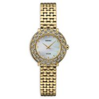 Seiko Women's 29mm Tressia Solar SUP374 Bracelet Watch with Mother of Pearl Dial