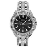 Seiko Men's 44mm Core Solar SNE457 Swarovski® Bracelet Watch