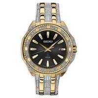 Seiko Men's 44mm Core Solar SNE458 Swarovski® Two-Tone Bracelet Watch