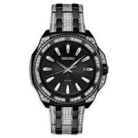 Seiko Men's 44mm Core Solar SNE459 Swarovski® Two-Tone Bracelet Watch