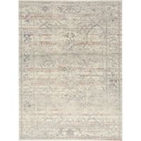 Shabby Chic Pastel 7'10 x 10'2 Power-Loomed Area Rug in Ivory/Grey