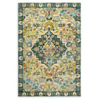 Home Dynamix Shabby Chic Fiesta 2'7 x 3'11 Area Rug in Beige/Blue/Green