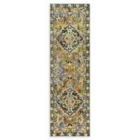 Home Dynamix Shabby Chic Fiesta 2'2 x 7'2 Runner Area Rug in Beige/Blue/Green
