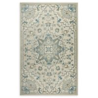 Shabby Chic Chandler 7'10 x 10'2 Power-Loomed Area Rug in Ivory/Blue