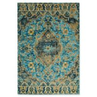 Home Dynamix Shabby Chic Fiesta 2'7 x 3'11 Area Rug in Blue/Beige