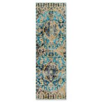 Home Dynamix Shabby Chic Fiesta 2'2 x 7'2 Runner Area Rug in Blue/Beige