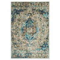 Shabby Chic Fiesta 2'7 x 3'11 Accent Rug in Brown/Blue
