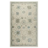 Shabby Chic Chandler Medallion 9'2 x 12'9 Power-Loomed Area Rug in Ivory/Blue
