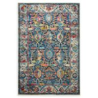 Home Dynamix Shabby Chic Fiesta 2'7 x 3'11 Area Rug in Dark Grey/Blue/Pink